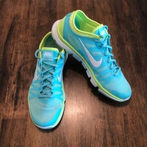 Nike Fitsole Blue and Green Sneakers